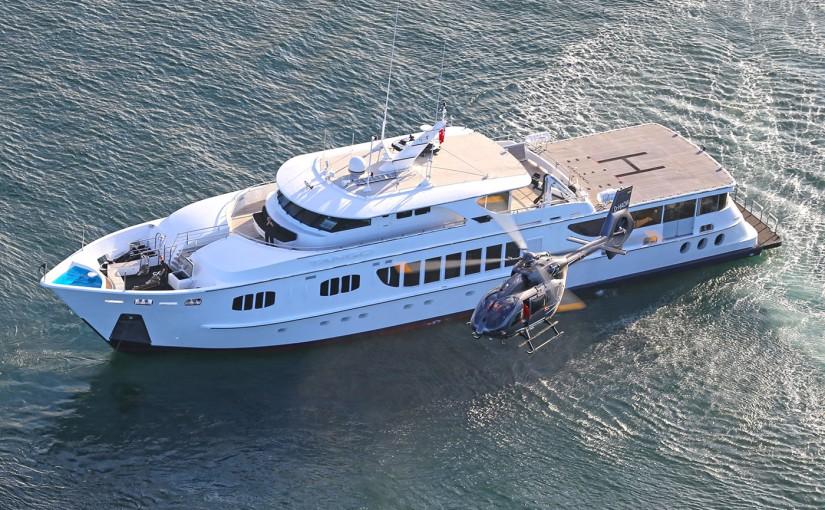 TANGO Superyacht Hire Sydney | Helicopter Pad : Sydney