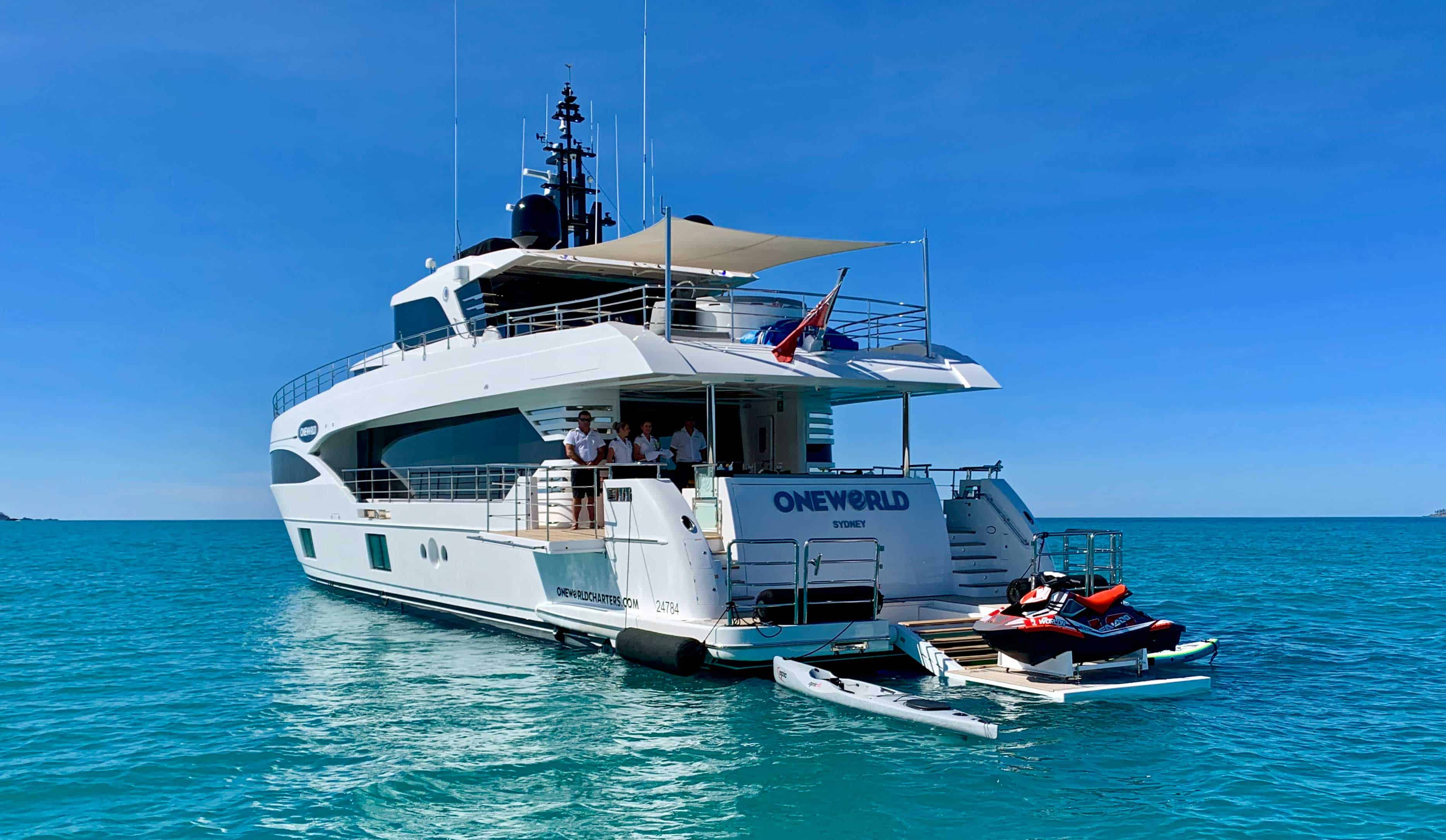 oneworld lxuury yacht charters
